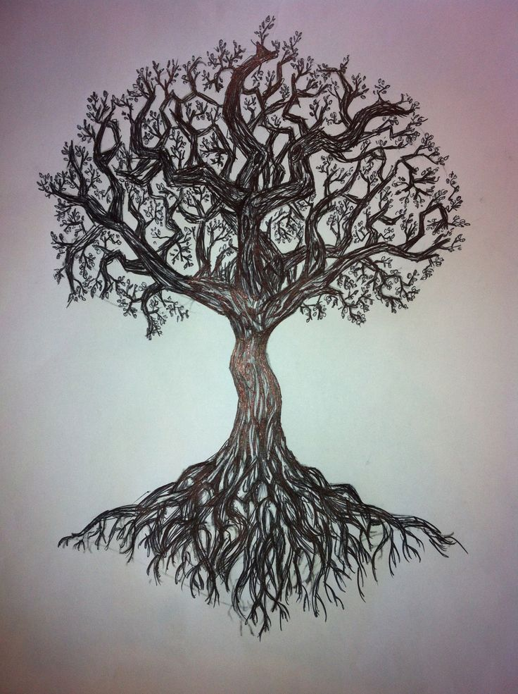 Ash Tree Without Leaves Tattoo Design