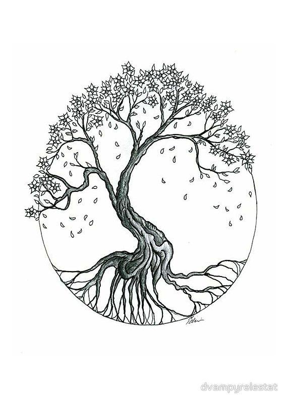 awesome tree of life tattoo design. Black Bedroom Furniture Sets. Home Design Ideas
