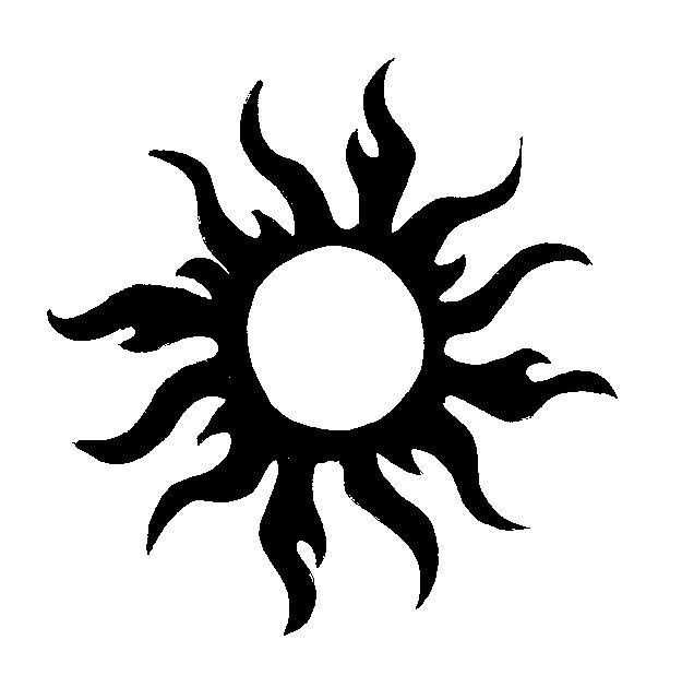 Awesome Tribal Sun Tattoo Design