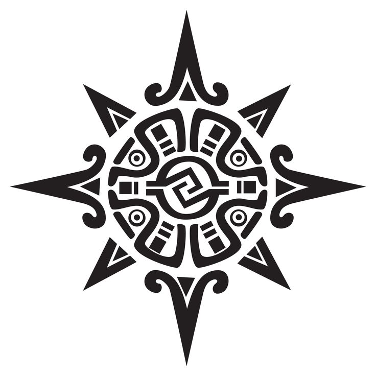 Aztec Sun Tattoo Design