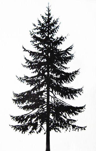 black ink pine tree tattoo design. Black Bedroom Furniture Sets. Home Design Ideas