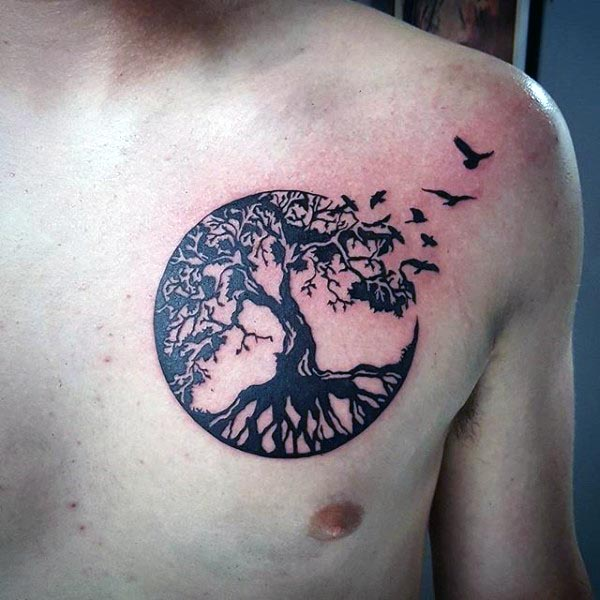 60 tree of life tattoos with meanings. Black Bedroom Furniture Sets. Home Design Ideas