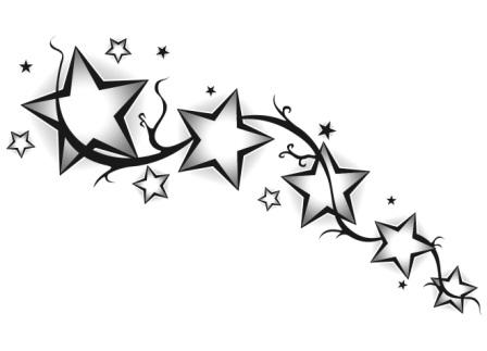 Black tribal and shooting stars tattoo design urmus Image collections