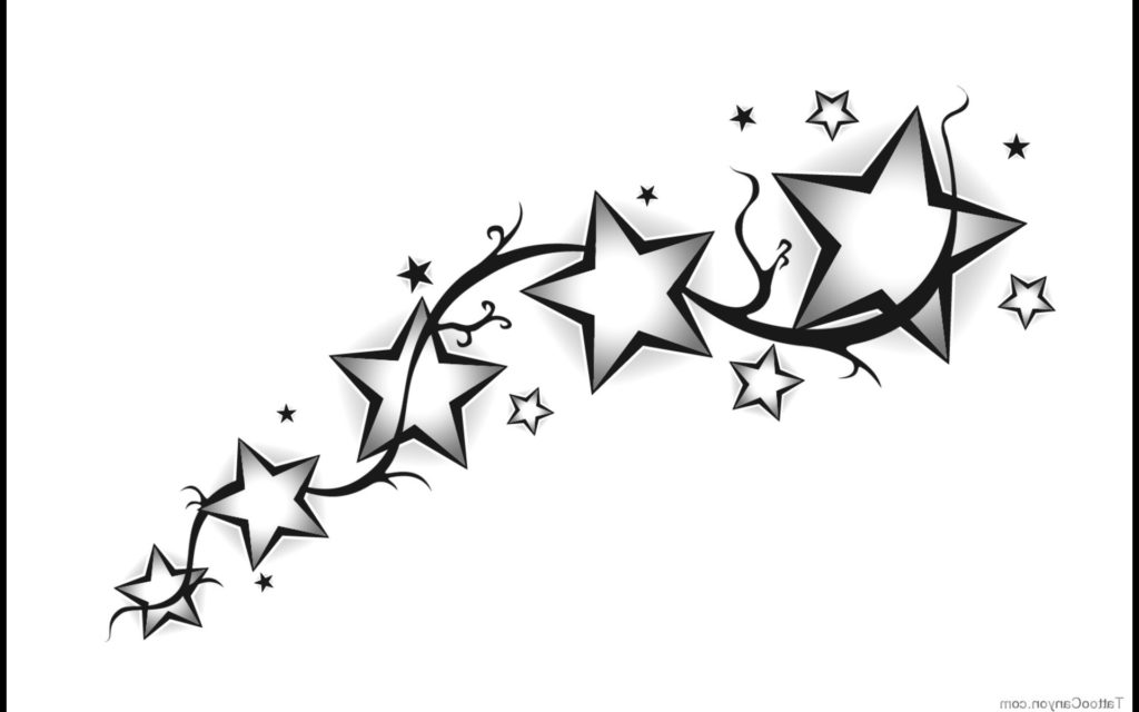 Shooting Star Tattoo Designs Tribal Shooting Star Drawing