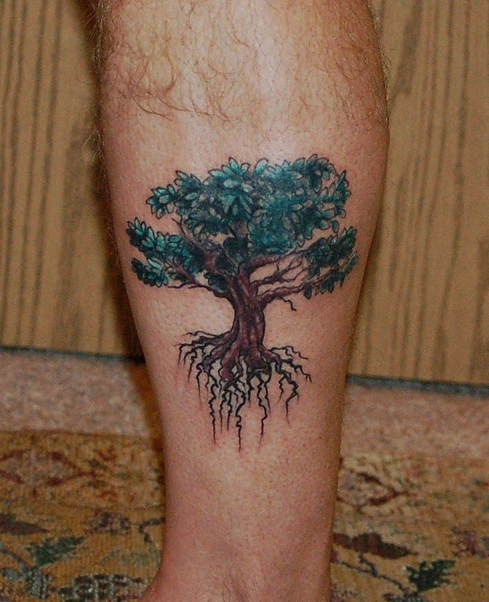 Oak Tree With Roots Tattoo: 55+ Latest Oak Tree Tattoos Collection