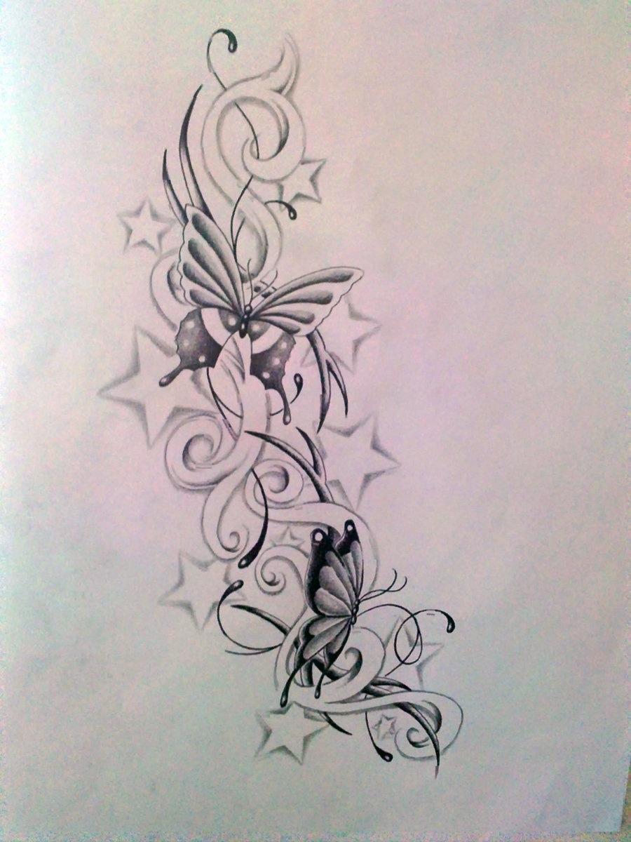 62+ Flowers Star Tattoo Ideas With Meanings