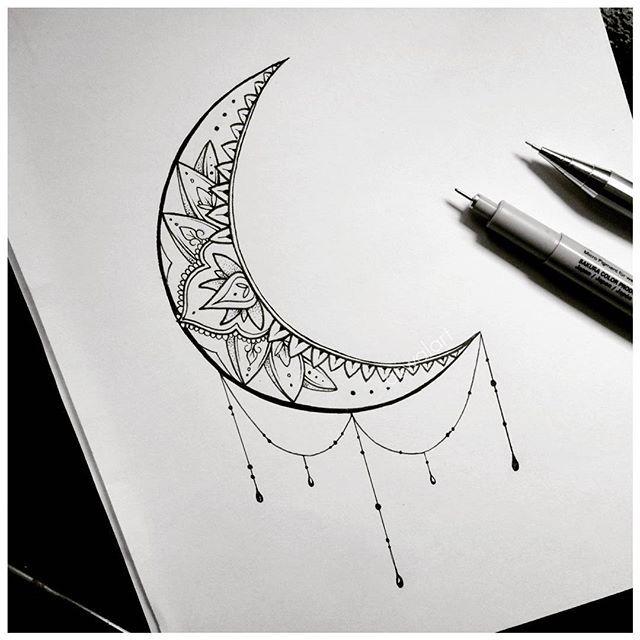 Cool Moon Tattoo Design