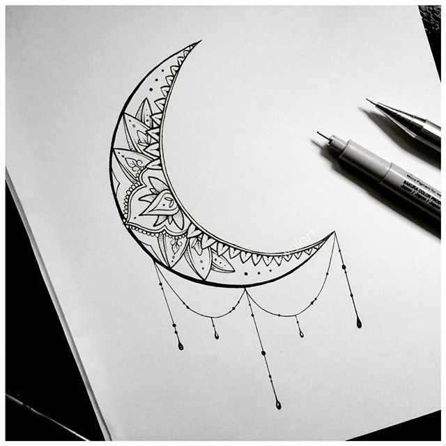 fc2fd96f8 64+ Beautiful Crescent Moon Tattoos With Meaning
