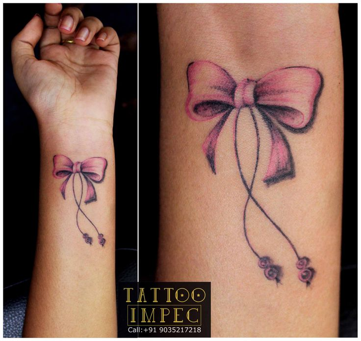 Pretty bow tattoos