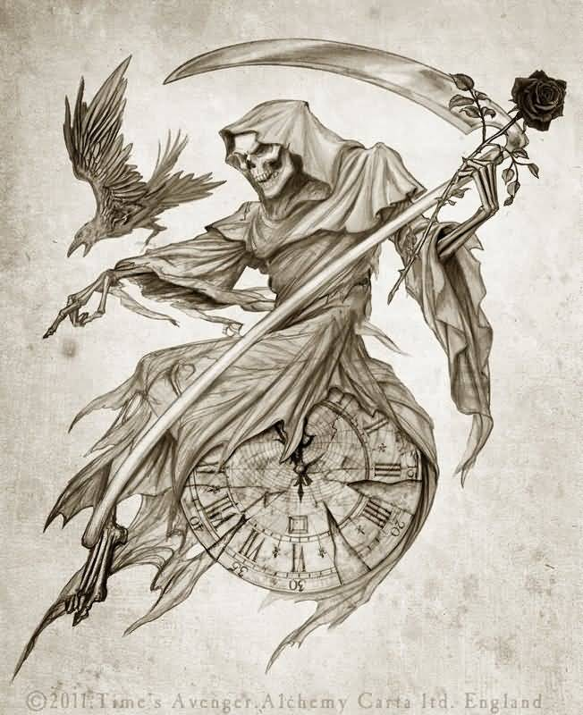 Tattoo Designs Grim Reaper: 60+ Latest Grim Reaper Tattoos With Meanings