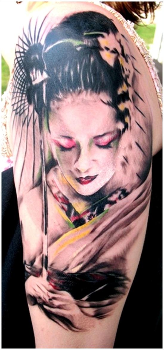 bde9501e5169b 52+ Japanese Geisha Tattoos Ideas And Meanings