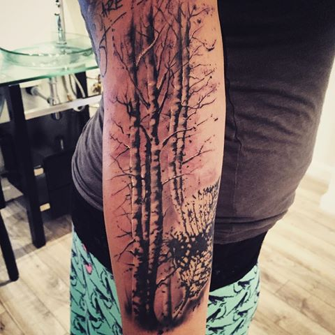 51 birch tree meaningful tattoos ideas