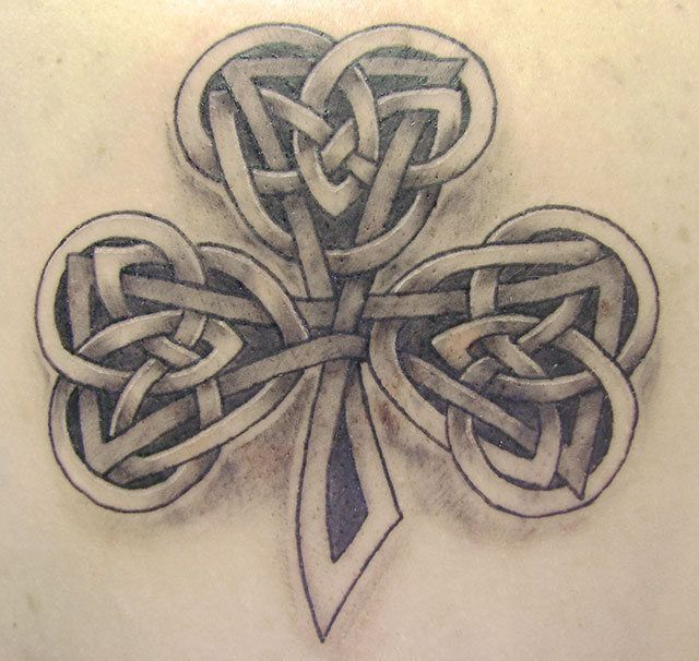 60 celtic shamrock tattoos ideas and meanings. Black Bedroom Furniture Sets. Home Design Ideas