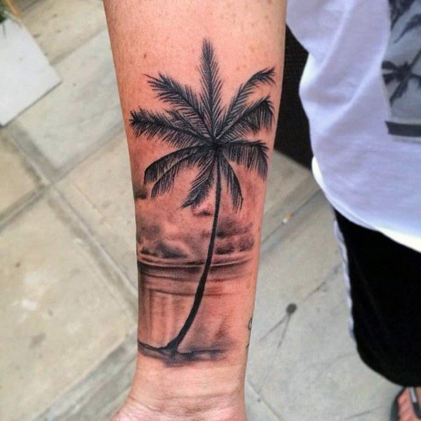75 beautiful palm tree tattoos with meanings. Black Bedroom Furniture Sets. Home Design Ideas