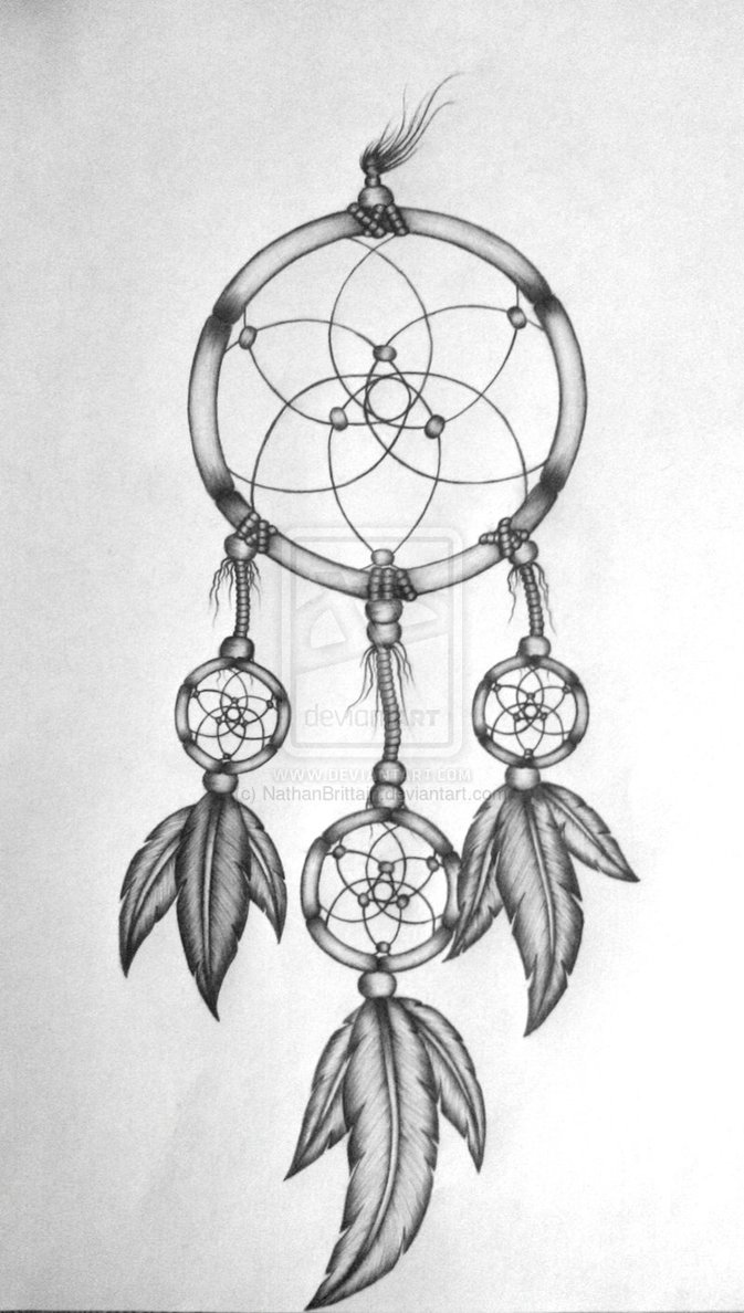 Grey and white dreamcatcher tattoo design pronofoot35fo Choice Image