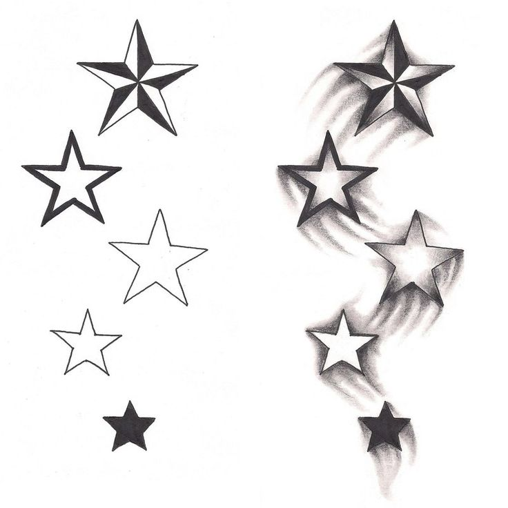 76 beautiful star tattoos and meaningful ideas for Tattoos of stars