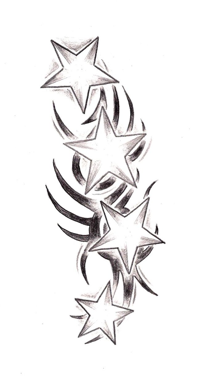28 tribal stars tattoos tribal star tattoo free for Star of david tattoo designs