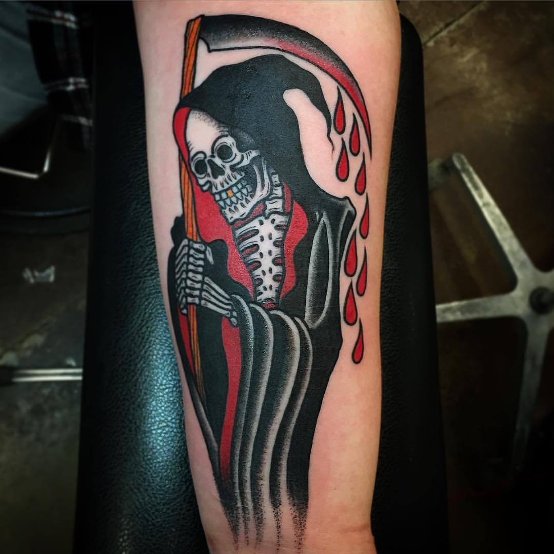 86700797b930f 60+ Latest Grim Reaper Tattoos With Meanings