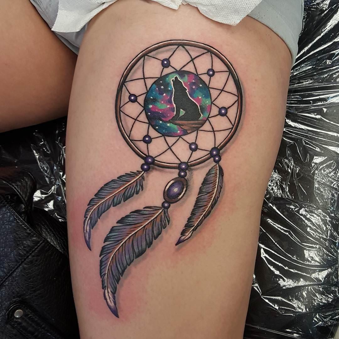 Wolf tattoo dreamcatcher - photo#33
