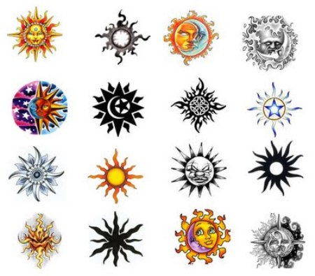 Latest Sun Tattoos Designs