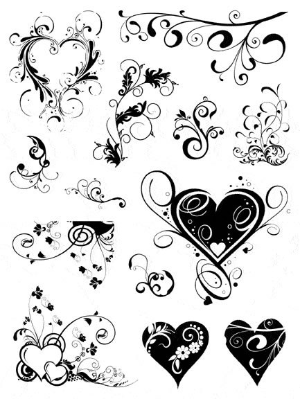 60 beautiful heart tattoos with meanings for Swirl tattoo designs