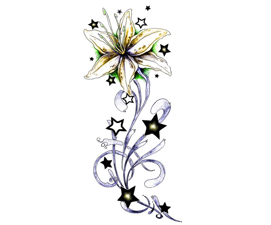 flowers stars design -#main
