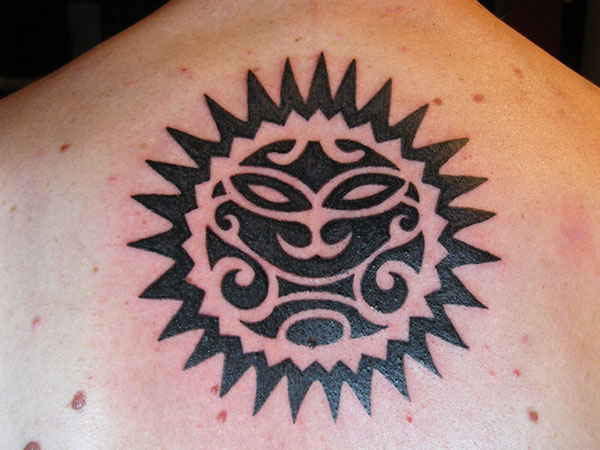 45 amazing tribal sun tattoos ideas and designs. Black Bedroom Furniture Sets. Home Design Ideas
