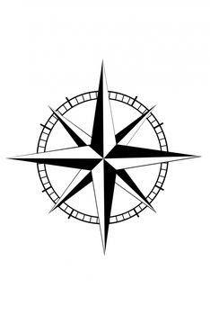 Nautical Star Compass Tattoo Design