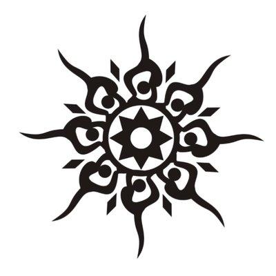 nice black ink celtic sun tattoo design. Black Bedroom Furniture Sets. Home Design Ideas