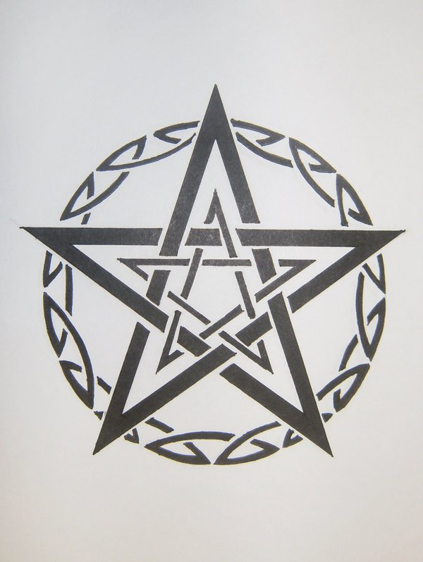 41 pentagram star tattoo pictures with meanings. Black Bedroom Furniture Sets. Home Design Ideas