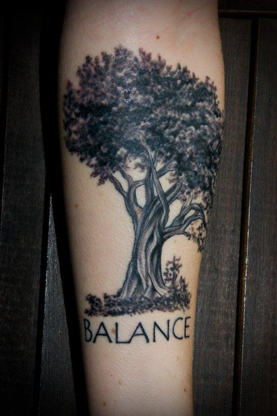 Oak Tree Tattoo Ankle