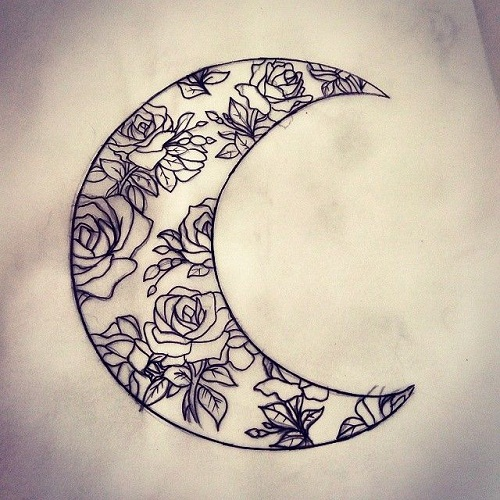 64+ Beautiful Crescent Moon Tattoos With Meaning