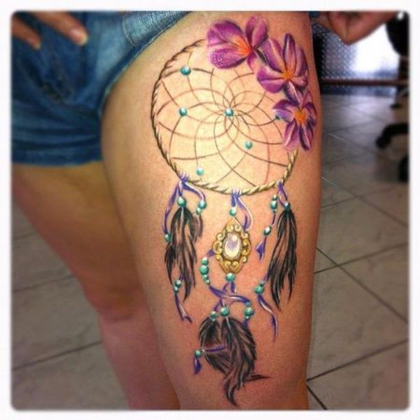 Dream Catcher Tattoo With Names Unique 60 Meaningful Dreamcatcher Tattoos Ideas