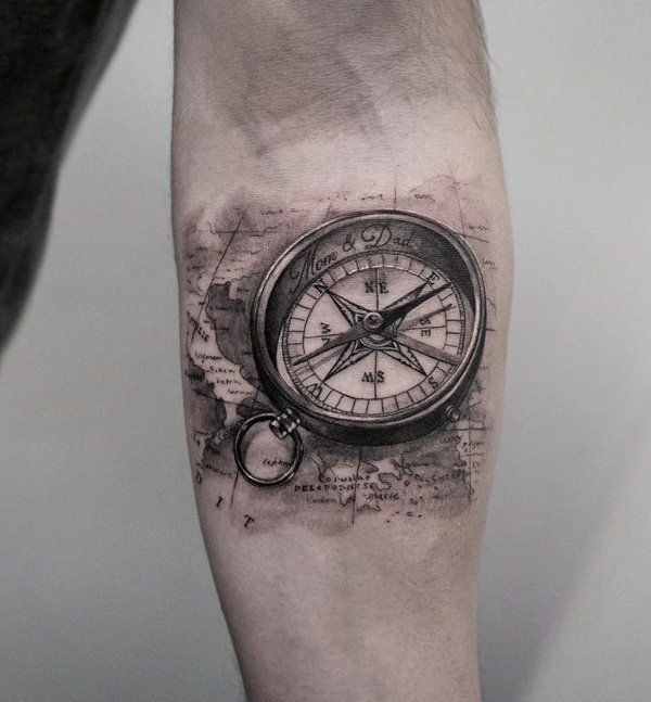 67+ Compass Tattoos Ideas With Meanings