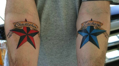 65 best nautical star tattoos ideas with meanings for Blue star tattoo