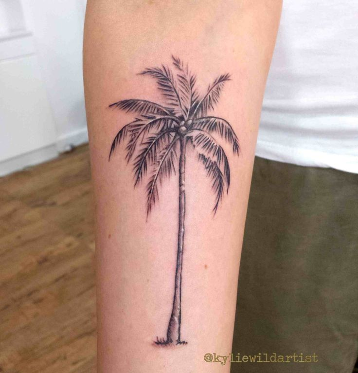 traditional palm tree tattoo. Black Bedroom Furniture Sets. Home Design Ideas