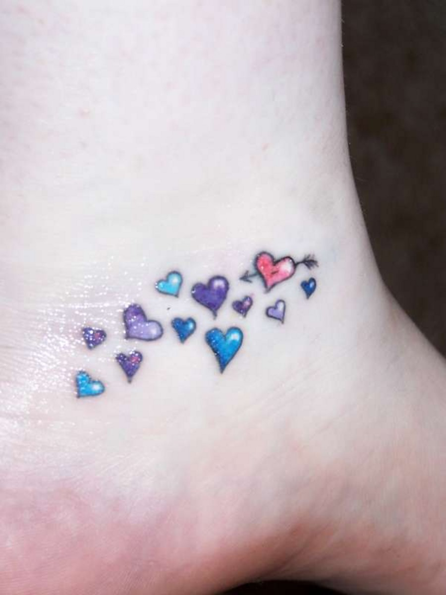 Little heart tattoo on wrist - Small Heart Tattoos On Ankle