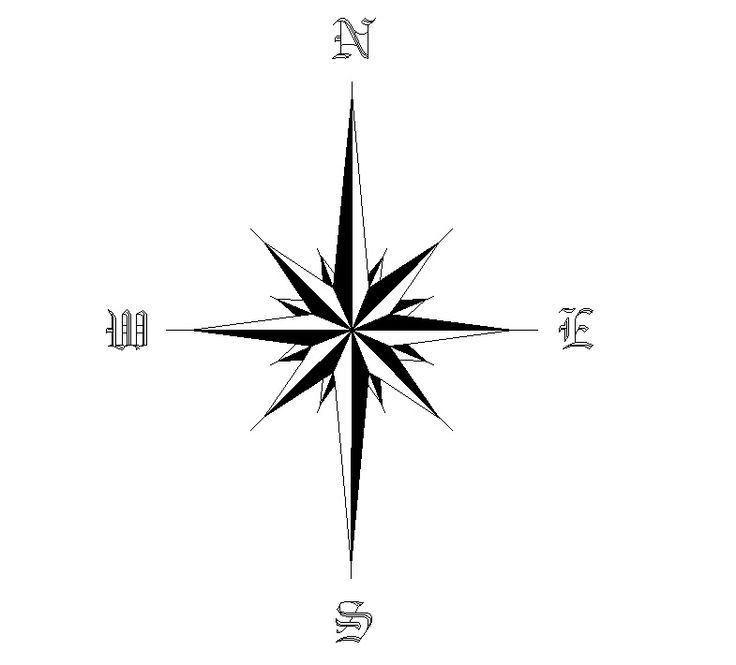 Star Compass Tattoo Design