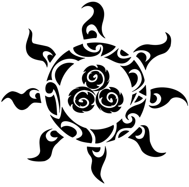 55 celtic sun tattoos designs and pictures with meanings for Black tribal tattoo ink