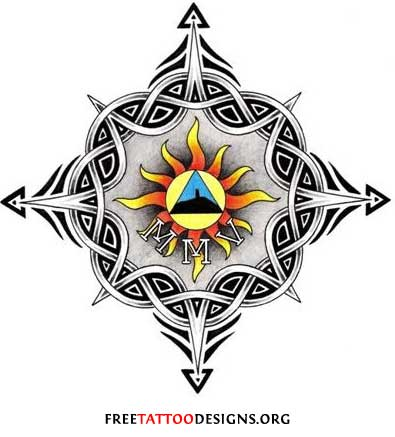tribal and celtic sun tattoo design. Black Bedroom Furniture Sets. Home Design Ideas