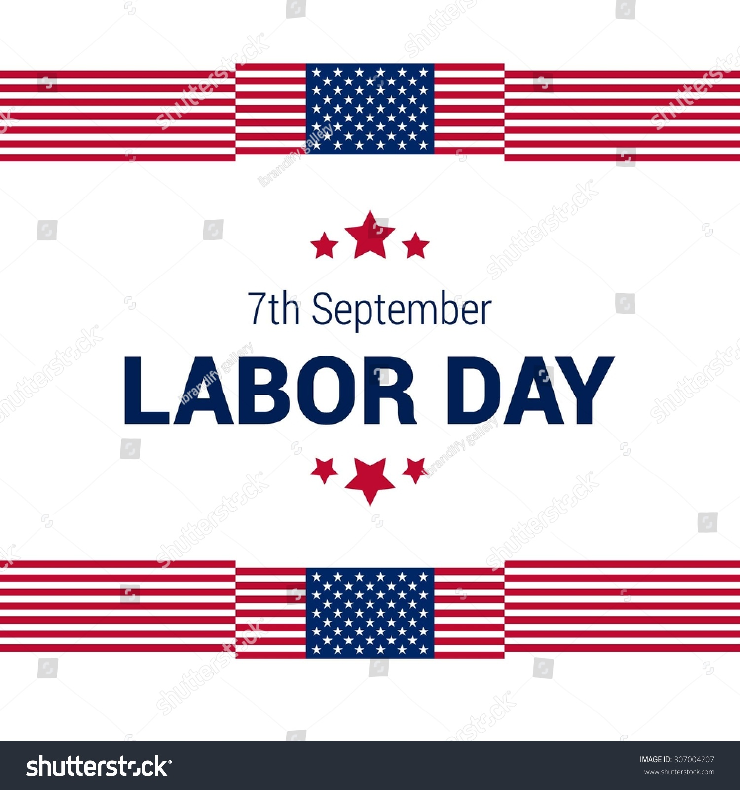 7th september labor day american flag greeting card kristyandbryce Image collections