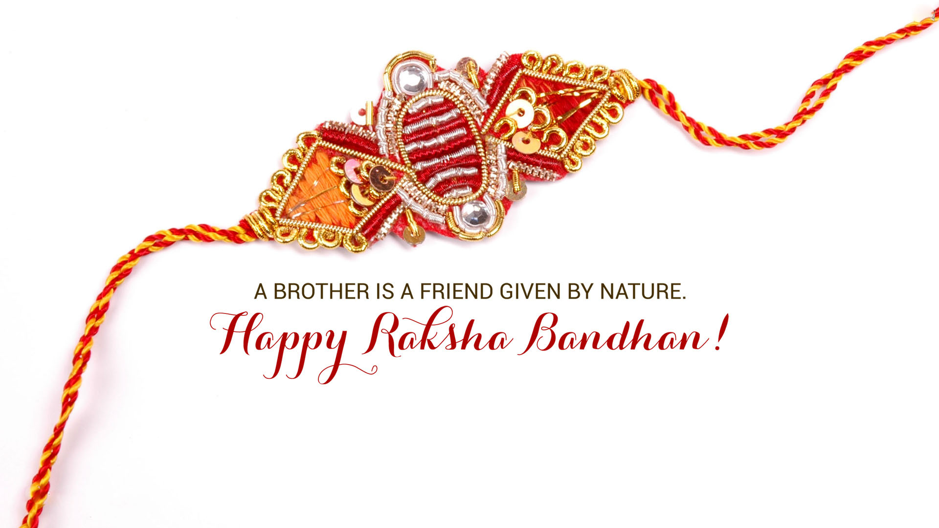 A brother is a friend given by nature happy raksha bandhan card kristyandbryce Image collections