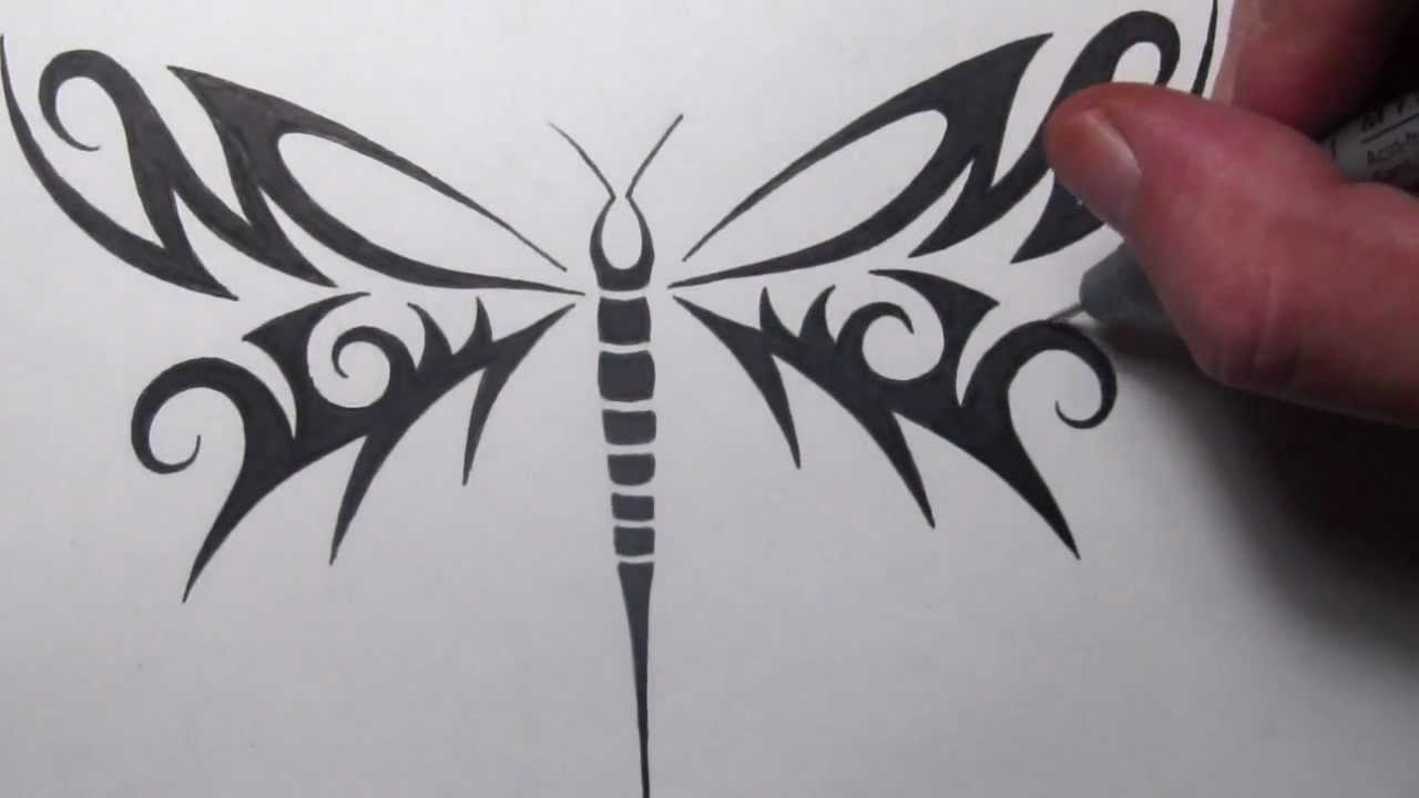 65 Latest Tribal Dragonfly Tattoo Design And Meanings