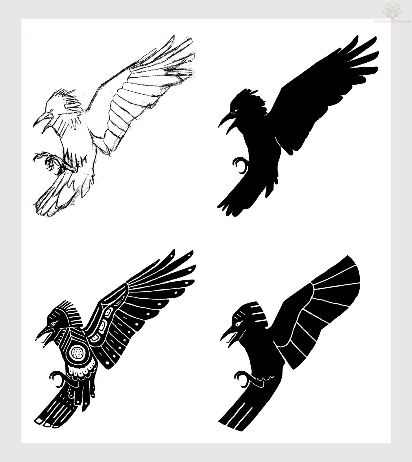 5ae1f8811 72+ Raven Tattoos Meaning And Designs