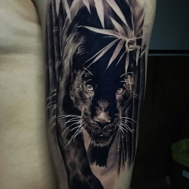 67+ Black Panther Tattoos Ideas With Meanings - photo#34