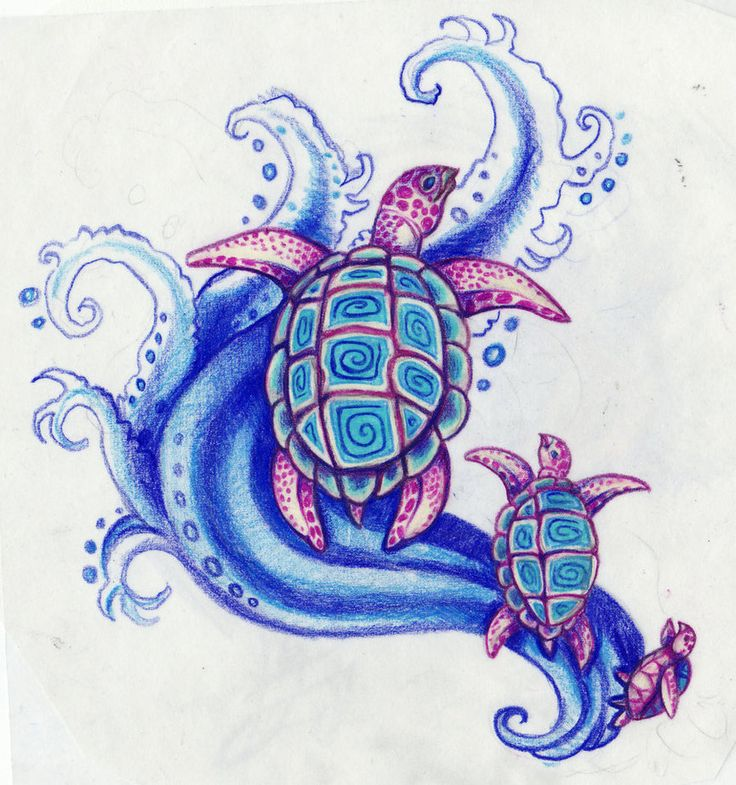 75+ Awesome Sea Turtle Tattoos