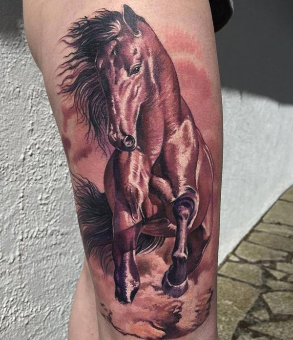 50+ 3D Horse Tattoos Meanings And Ideas