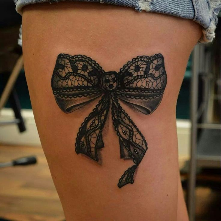 1589d9047 62+ Best Bow Tattoos Ideas For Girls And Women