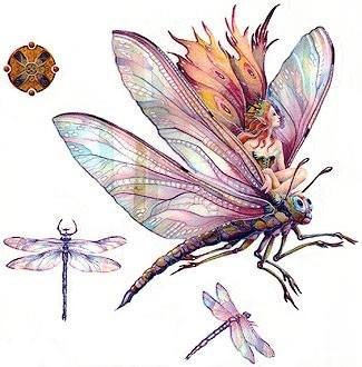 50 fairy dragonfly tattoos ideas. Black Bedroom Furniture Sets. Home Design Ideas
