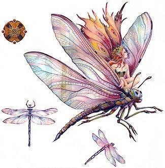 50 fairy dragonfly tattoos ideas. Black Bedroom Furniture Sets. Home Design Ideas